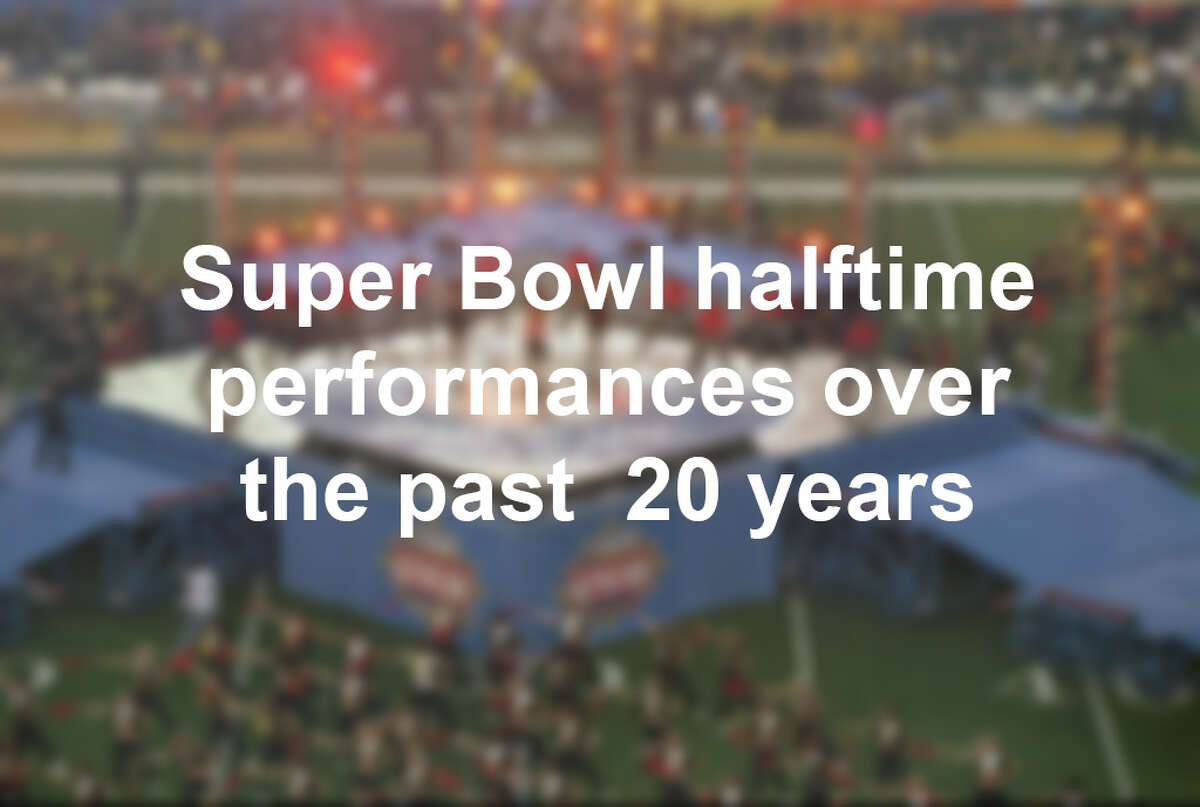 Click through the slideshow to see Super Bowl halftime performances over the past 20 years