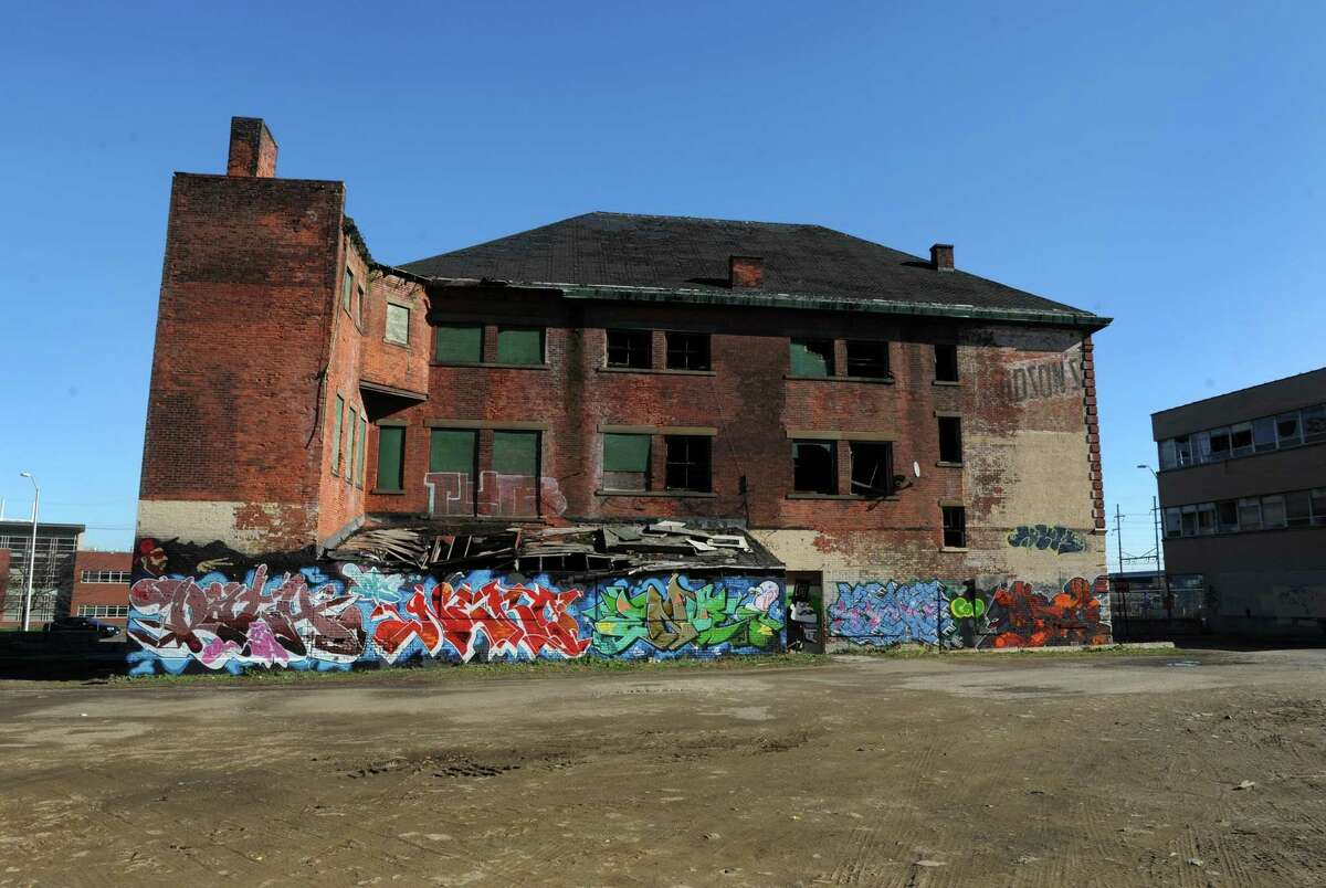 The former site of Davidson's Fabric Factory at 227 Middle St. in Bridgeport, Conn.