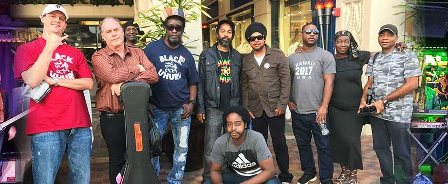 Black Uhuru and crew at the Blue Note Club in Honolulu in 2017. Photo: Contributed