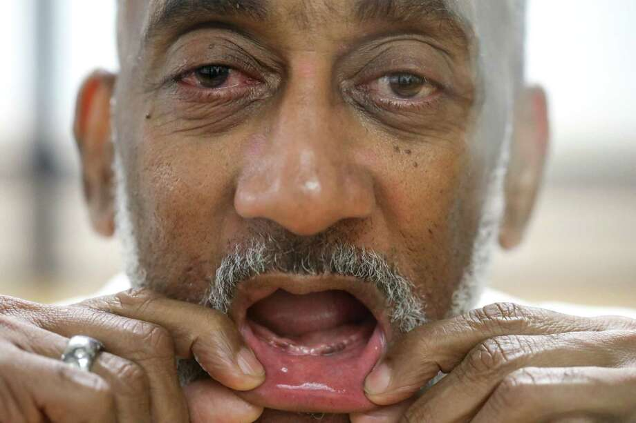 "PHOTOS: Rules in Texas prisonsDavid Ford, an inmate at the Huntsville Unit, has had trouble getting dentures while in prison. ""You ain't gonna see nothin,"" he said while showing his toothless smile Friday, Sept. 14, 2018, in Huntsville.>>>See other rules that inmates in Texas must live by... Photo: Jon Shapley, Staff Photographer / Staff Photographer / © 2018 Houston Chronicle"