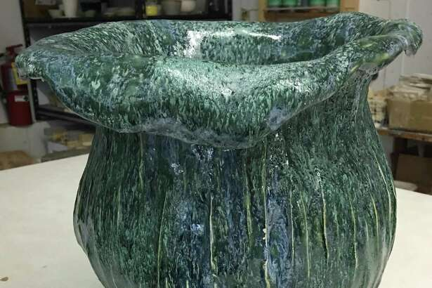 Students from Shepaug Valley Regional High School have an art show at the Washington Art Association, opening Saturday afternoon with a reception. Above, a stoneware planter by student Cindy Brown.