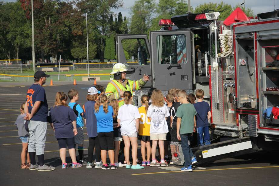 Local emergency agencies held a vehicle expo at Bad Axe Elementary this week. Photo: Seth Stapleton/Huron Daily Tribune