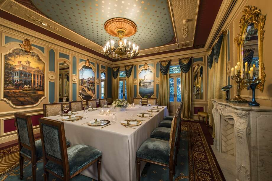 The dining room inside 21 Royal in New Orleans Square at Disneyland. Photo: Courtesy Of Disneyland Resort