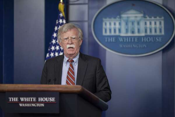 John Bolton, national security advisor, speaks during a White House press briefing in Washington, D.C., U.S., on Thursday, Aug. 2, 2018.