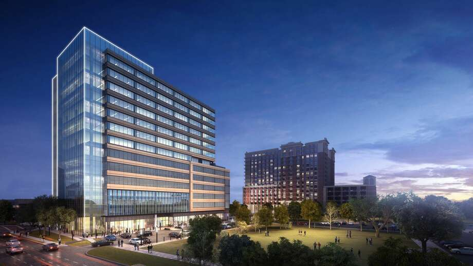 Stonelake Capital is planning a 12-story office building next to the Ivy and James apartment buildings on Westheimer and Mid Lane. Photo: Courtesy Of Stonelake/Colvill Office