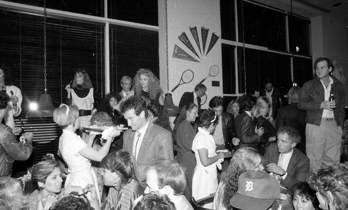 Sept. 25, 2018: Robin Williams mingled with the crowd at the Hard Rock Cafe opening in 1984.