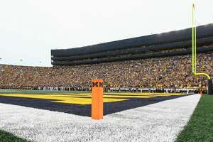 ANN ARBOR, MI - SEPTEMBER 08:  A general field level view of Michigan Stadium is seen during game action between Western Michigan and Michigan (21) on September 8, 2018 at Michigan Stadium in Ann Arbor, Michigan. (Photo by Scott W. Grau/Icon Sportswire via Getty Images)