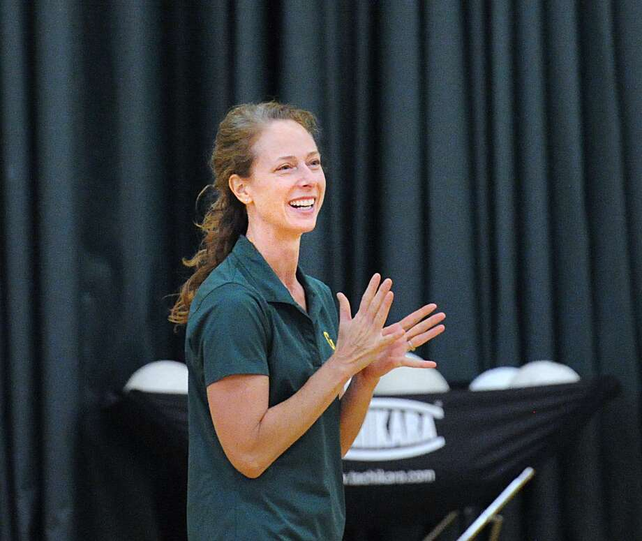 Greenwich Academy volleyball coach Christy Girard has the gators off to a 2-0 start this season. Photo: Bob Luckey Jr. / Hearst Connecticut Media / Greenwich Time