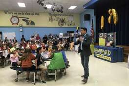 Harvard Elementary School celebrated 120 years of education in the Heights with a special program held Sept. 18 in the school cafeteria. R.W. McKinney, Houston historian and Mister McKinney of Mister McKinneys Historic Houston, stopped by to teach Harvard's kindergartners and fifth graders about the history of their school and neighborhood.
