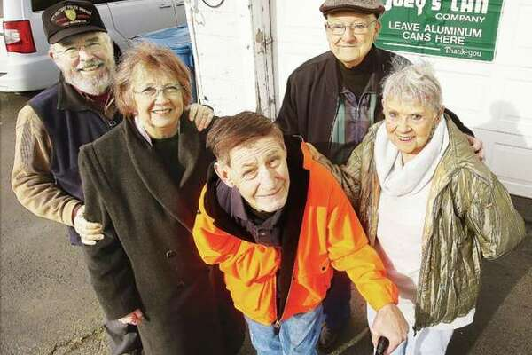 Charley Moyer, center, flanked by friends Roger and Pat Lowery (left) and Dale and Carol Neudecker (right), shortly before he moved to Wilmington, North Carolina to live with the Lowerys in Dec. 2016. He then moved to an assisted living apartment in the summer of 2017 just a few minutes from the couple's home. Moyer and the Lowerys survived Hurricane Florence unscathed, with the Lowerys' home suffering no damage.