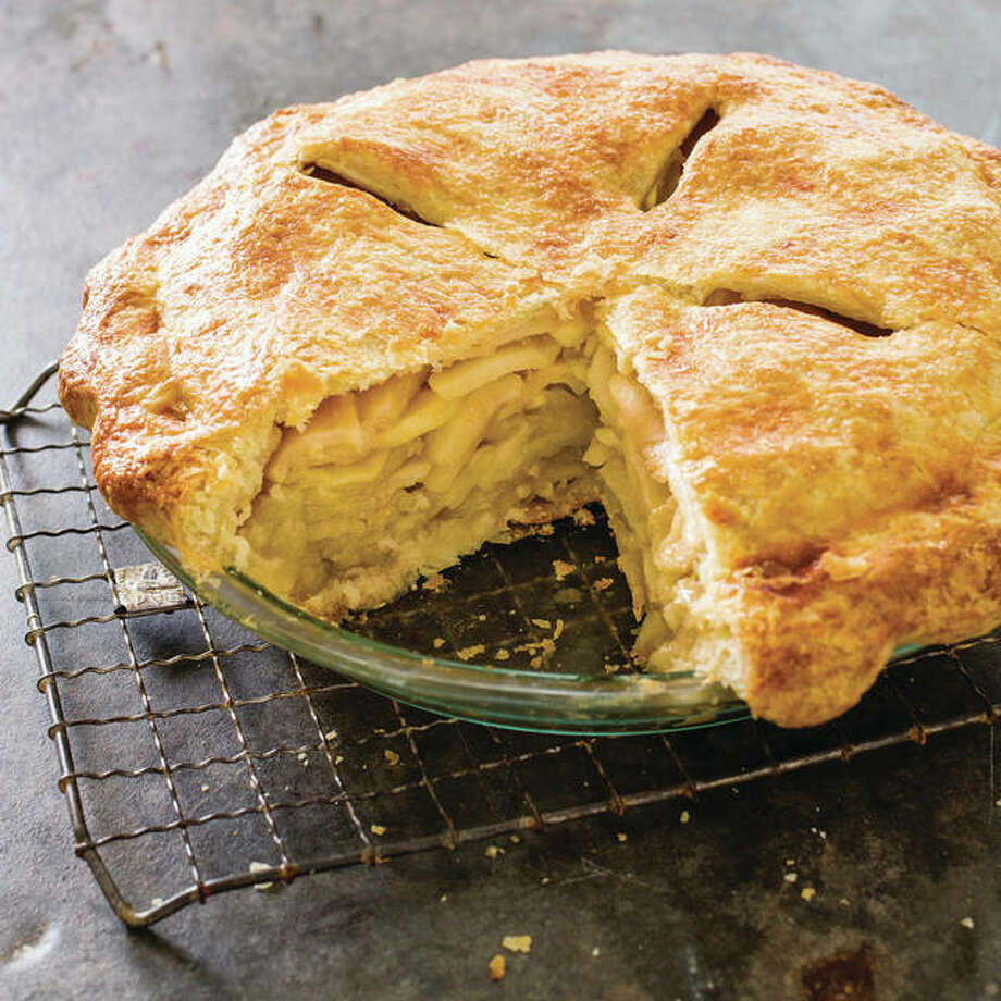 """This undated photo provided by America's Test Kitchen in September 2018 shows a deep dish apple pie in Brookline, Mass. This recipe appears in the cookbook """"All-Time Best Holiday Entertaining."""" Photo: Associated Press"""
