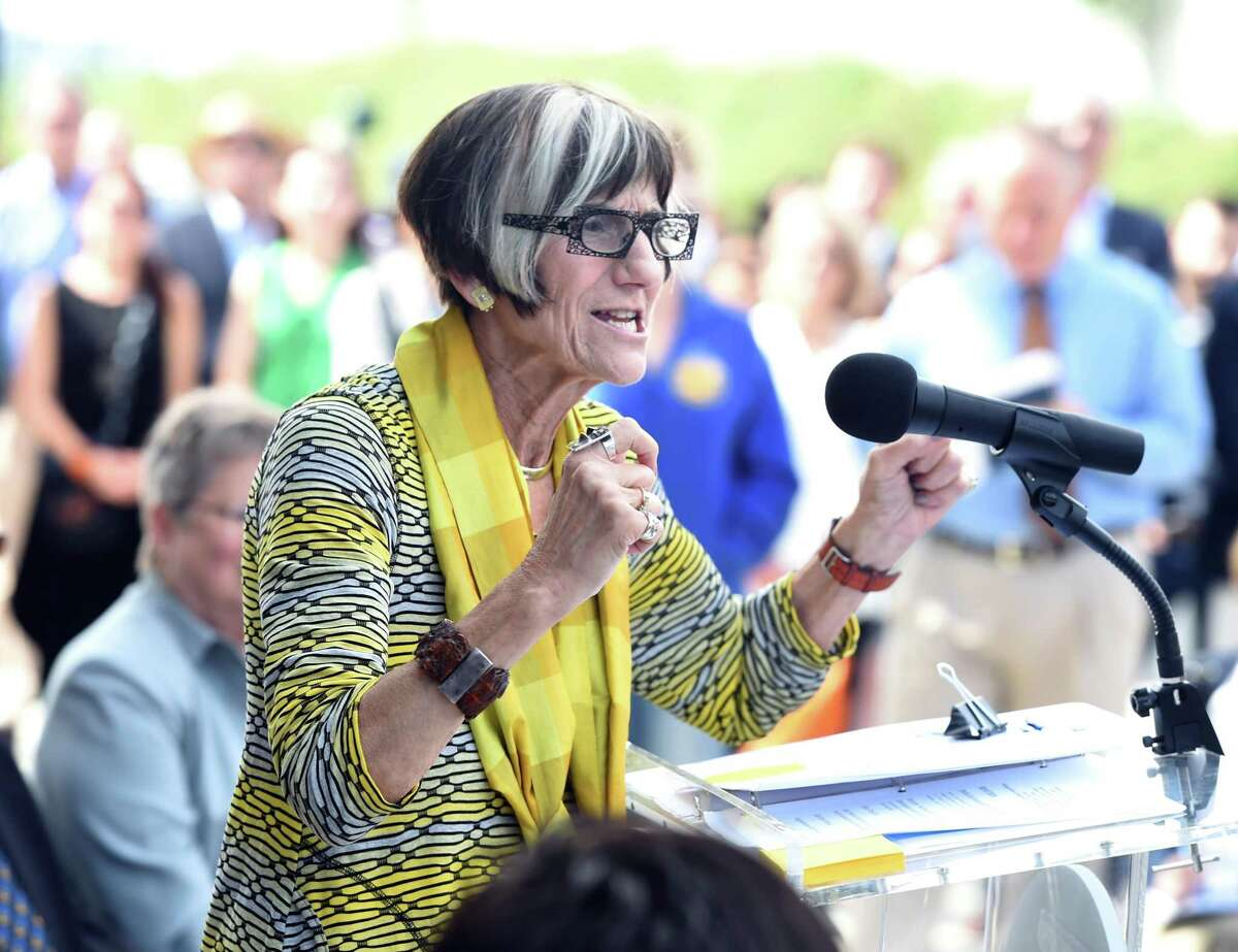 U.S. Rep Rosa DeLauro at a ribbon-cutting ceremony Tuesday in New Haven.