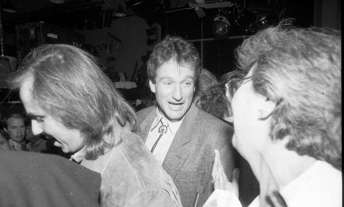 Sept. 24, 1984: Robin Williams was in the crowd at the Hard Rock Cafe opening in 1984.