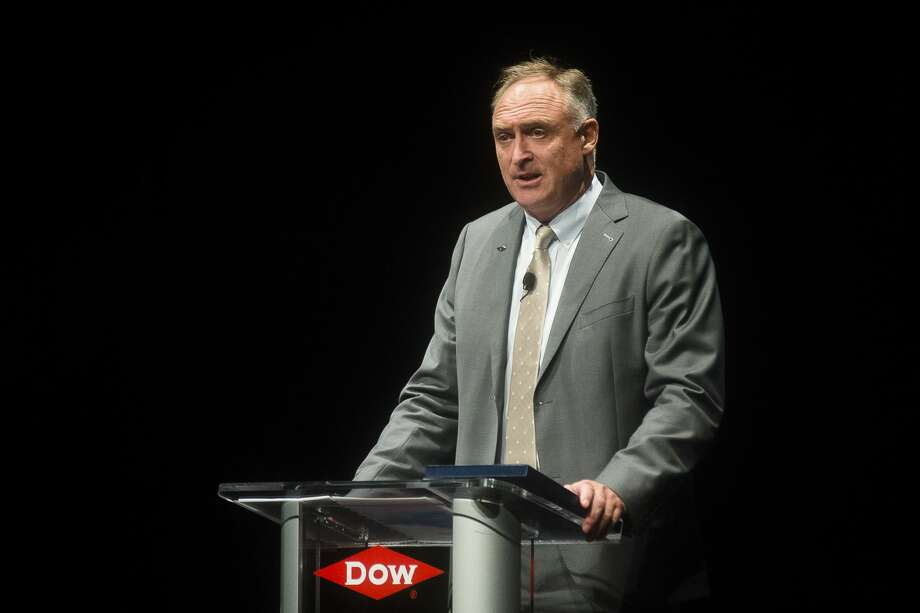 Dow Vice President of Operations for North America, North, and Vice President of Operations for Michigan Reiner Roghmann speaks during an unveiling event for new signage for Dow's Michigan Operations plant on Thursday, Sept. 20, 2018 at the Midland Center for the Arts. (Katy Kildee/kkildee@mdn.net) Photo: (Katy Kildee/kkildee@mdn.net)