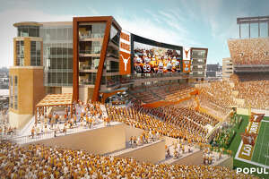 Artist rendering of the Royal-Memorial Stadium south end zone expansion and renovation.