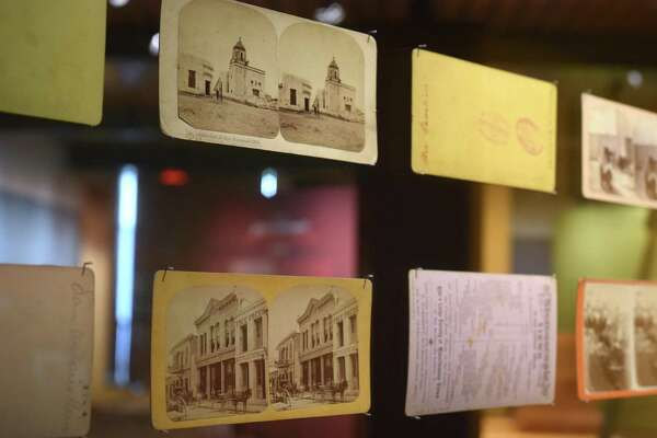 "Stereoscope postcards are on display at The Briscoe Western Art Museum as part of the ""Destino San Antonio"" interactive exhibit."