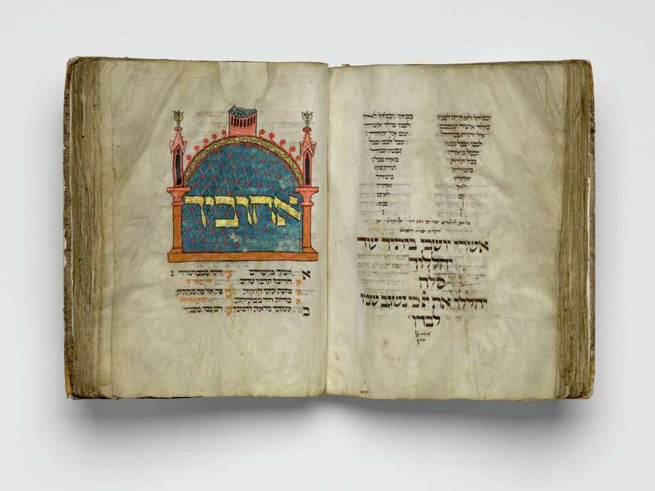 "Among several important Medieval period acquisitions on display at the Museum of Fine Arts, Houston is the German illuminated manuscript known as ""The Montefiore Mainz Mahzor,"" c. 1310-1320. Photo: Museum Of Fine Arts, Houston / Museum Of Fine Arts, Houston"