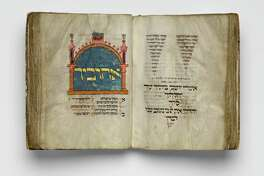 "Among several important Medieval period acquisitions on display at the Museum of Fine Arts, Houston is the German illuminated manuscript known as ""The Montefiore Mainz Mahzor,"" c. 1310-1320."