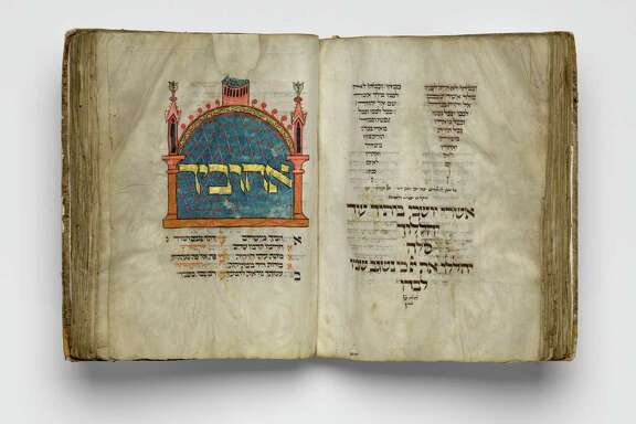"""Among several important Medieval period acquisitions on display at the Museum of Fine Arts, Houston is the German illuminated manuscript known as """"The Montefiore Mainz Mahzor,"""" c. 1310-1320."""