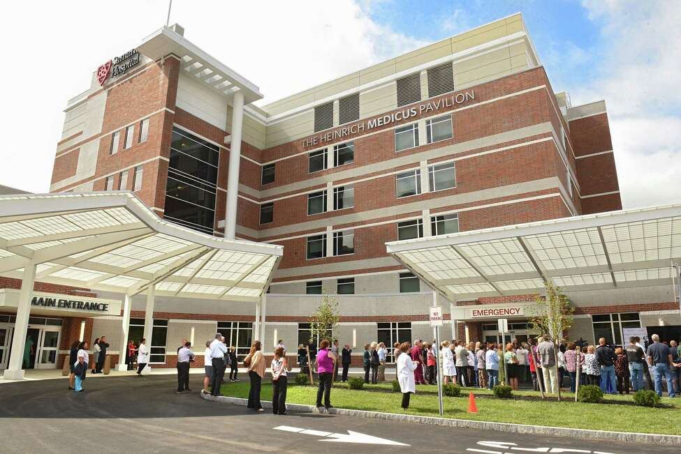 Employees and officials gather for an event to celebrate the completion of the $105 million Troy Master Facilities Plan project and the opening of the new Samaritan Hospital lobby on Thursday, Sept. 20, 2018 in Troy, N.Y. The Heinrich Medicus Patient Pavilion is also completed. (Lori Van Buren/Times Union)