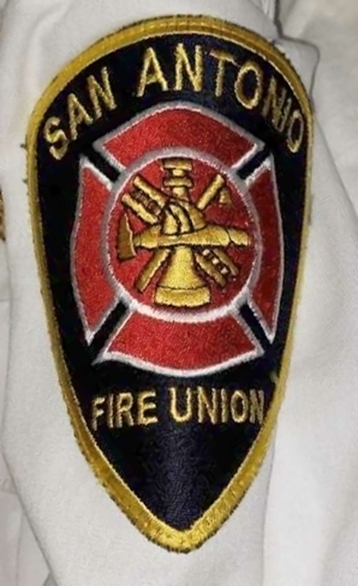 A San Antonio Fire Union patch worn by Chris Steele which closely resembles the official San Antonio Fire Department patch.