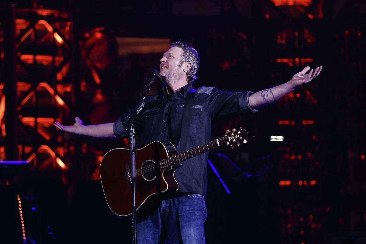 """Blake Shelton: Country star Shelton, in the midst of a whirlwind of publicity tour ahead of a new season of """"The Voice,"""" is popping into San Antonio for a free pop-up concert. Earlier this week, Shelton showed up on NBC's morning and late-night shows, with appearances on """"The Tonight Show Starring Jimmy Fallon,"""" """"Today"""" and """"Late Night With Seth Meyers."""" The new season of """"The Voice"""" kicks off Monday, with coaches Adam Levine, Kelly Clarkson and Jennifer Hudson joining Shelton in the rotating chairs. Shelton's latest radio hit is """"I Lived It,"""" off his 2017 album """"Texoma Shore."""" Doors 6:30 p.m. Friday. Cowboys Dancehall, 3030 NE I-35 at Loop 410. Free. First come, first served. Wristband line starts at 10 a.m. Facebook: Blake Shelton - Jim Kiest"""