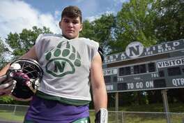 Sam Papp - a 6-foot-5, 255-pound two-way lineman for the Norwalk football team - is a leader both on and off the field.