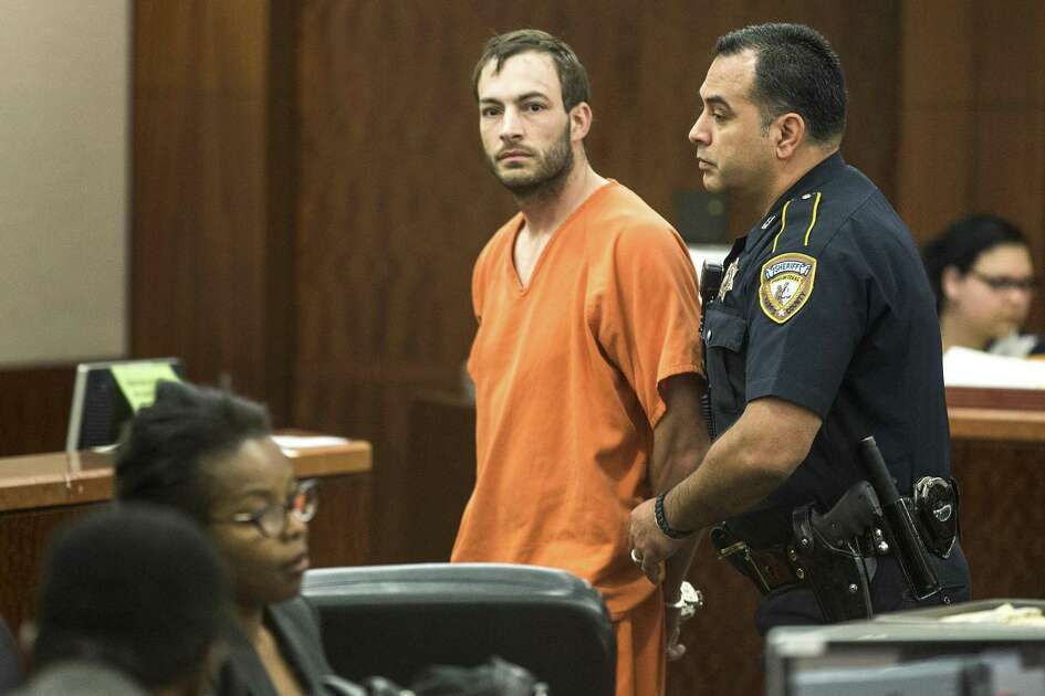 Blaine Boudreaux is escorted from the courtroom following his appearance in court on charges stemming from a pair of fatal accidents on Wednesday, April 29, 2015, in Houston. Boudreaux is charged with intoxication manslaughter in connection with a wreck that killed a 6-year-old boy on Sunday. He is also implicated in a fatal wreck hours earlier. ( Brett Coomer / Houston Chronicle )