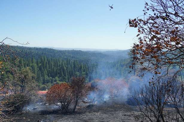 A timber fire broke out 10 miles east of Placerville on Thursday afternoon, briefly shutting down Highway 50 and prompting evacuations, officials said.