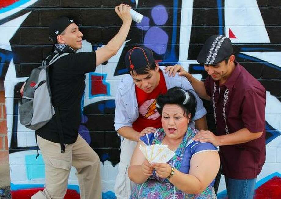 "The Woodlawn Theatre is reprising ""In the Heights"" — which it staged in 2009, with a cast including, from left, Luis Garcia Jr., Tony Pena, Miguel Ochoa and Ana Hernandez — during its 2019 season. Photo: Woodlawn Theatre"