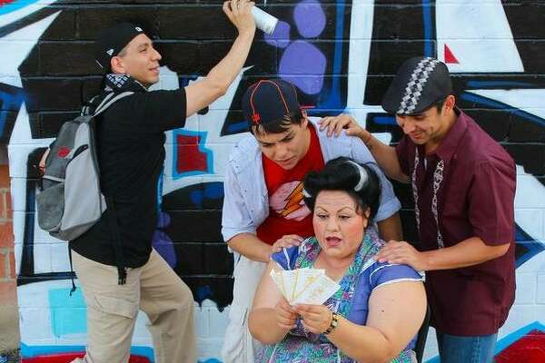"""The Woodlawn Theatre is reprising """"In the Heights"""" - which it staged in 2009, with a cast including, from left, Luis Garcia Jr., Tony Pena, Miguel Ochoa and Ana Hernandez - during its 2019 season."""
