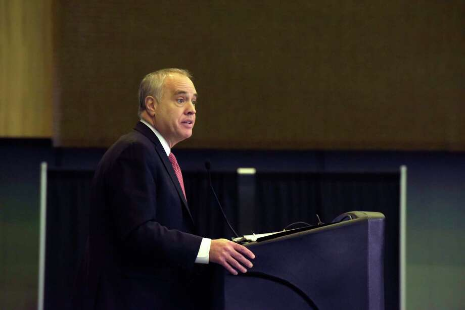 New York State Comptroller Thomas DiNapoli speaks at the NYS Economic Development's annual conference at the Albany Capital Center on Thursday, Feb. 1, 2018, in Albany, N.Y. (Paul Buckowski/Times Union) Photo: PAUL BUCKOWSKI / (Paul Buckowski/Times Union)