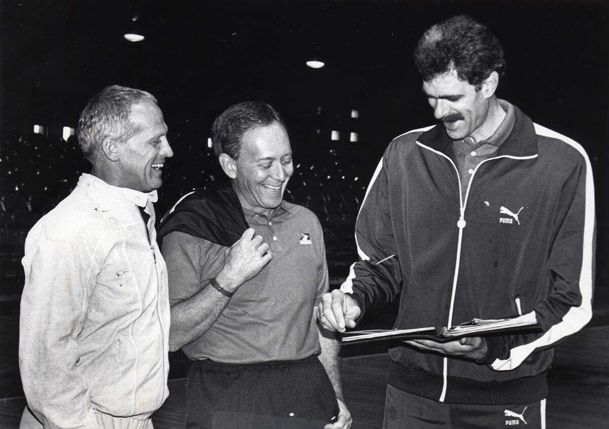 Undated Times Union file photo -- From left, Bill Musselman, Herb Brown and Phil Jackson in Albany, NY.