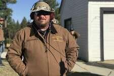 "Thomas Curley on the ""Yellowstone"" set (Photo courtesy Thomas Curley)"