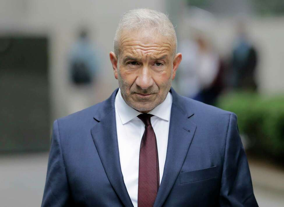 Alain Kaloyeros, a former president of the State University of New York's Polytechnic Institute, arrives to federal court in New York, Thursday, July 12, 2018. A federal jury in New York on Thursday convicted key players including Kaloyeros of corruption in Gov. Andrew Cuomo's