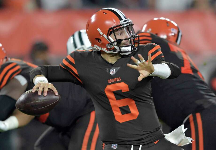 cc6c9f6fc Cleveland Browns quarterback Baker Mayfield (6) throws against the New York  Jets during the