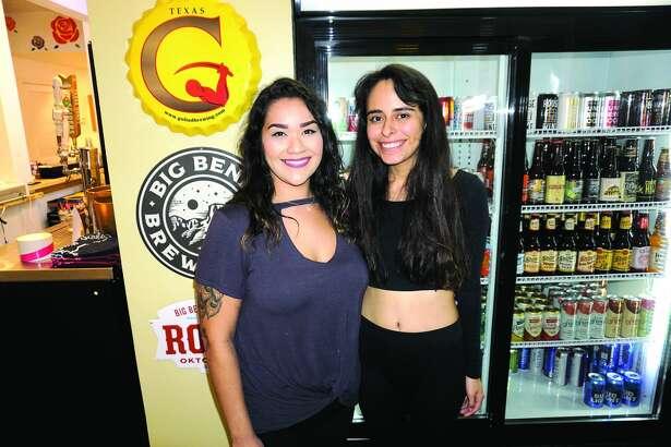 Sarah Castillo and Stephanie Marie Ramos at Cultura Beer Garden Friday, September 21, 2018