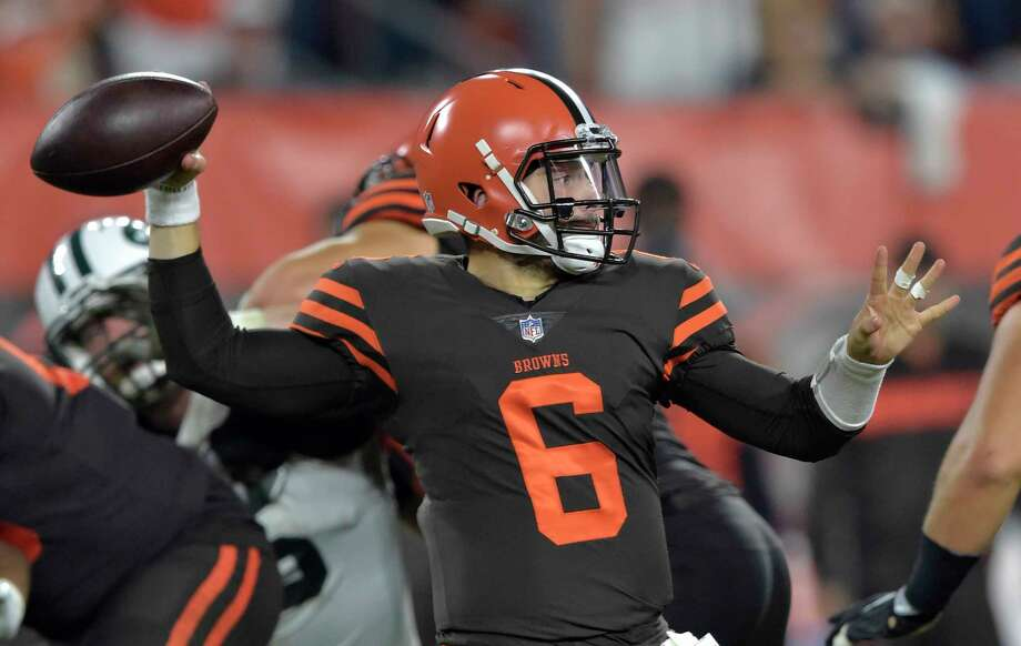 bc770f6e993 Cleveland Browns quarterback Baker Mayfield throws a pass against the New  York Jets during the first