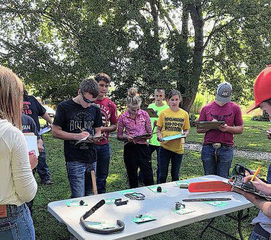 Ten schools brought both greenhand and varsity teams to compete in a forestry session hosted by the Calhoun FFA chapter. Photo: Photo Provided