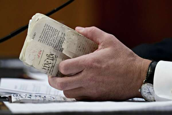 The U.S. Constitution - Supreme Court nominee Brett Kavanaugh's copy shown here - has its warts and can evolve, as it has with the various amendments.
