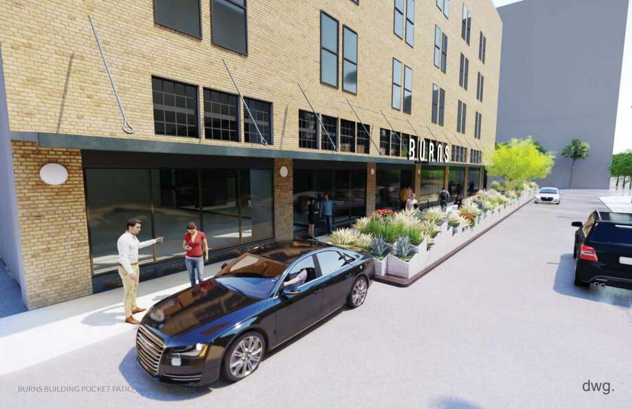 On Sept. 19, the San Antonio Historic and Design Review Commission approved plans for a parklet downtown. The parklet will be along Jefferson Street at the 401 East Houston Street address. It will replace four parking metered spots.Click through the slideshow to see additional renderings of the parklet. Photo: Courtesy Of City Of San Antonio