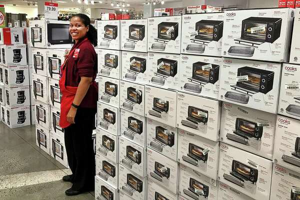 Lisa-Marie Irizarry, general manager of the JCPenney at Danbury Fair, stands among the Black Friday displays of small appliances at the store in Danbury Fair on Monday, Nov. 20, 2017.