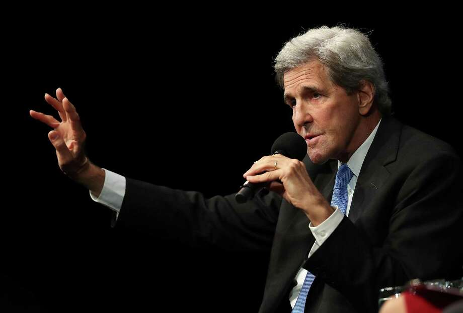 Former U.S. Secretary of State John Kerry speaks during a Commonwealth Club of California event at the Marines' Memorial Theatre in San Francisco. Photo: Justin Sullivan,  Staff / Getty Images / 2018 Getty Images