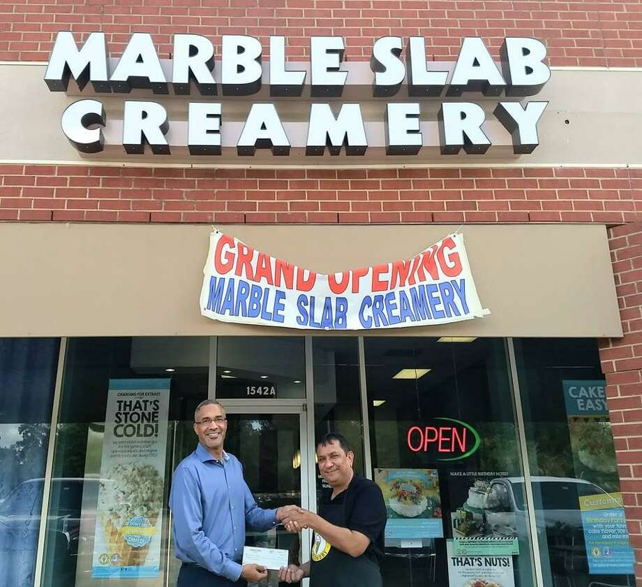 Marble Slab Creamery in Kingwood is a recipient of the Harvey Small Business Grant. Photo: Lake Houston Area Economic Development Partnership