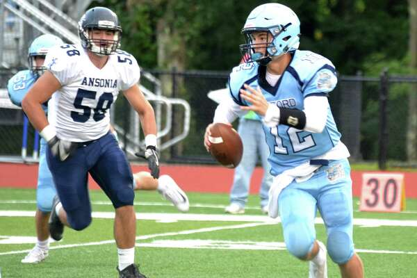 Action from Ansonia's 45-9 win over Oxford on Thursday, Sept. 20, 2018. (Pete Paguaga, Hearst Connecticut Media)