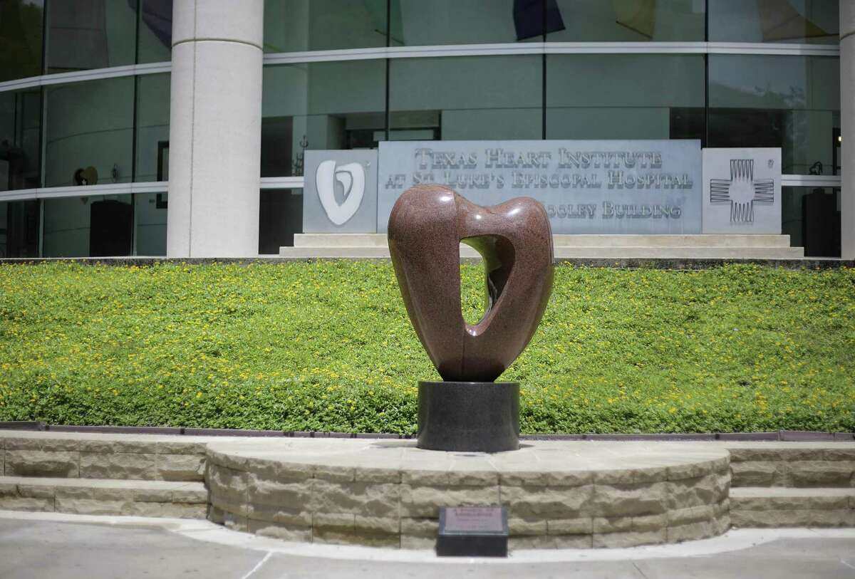 A statue in front of the Texas Heart Institute at St. Luke's Hospital on Friday, June 15, 2018 in Houston. (Elizabeth Conley/Houston Chronicle)