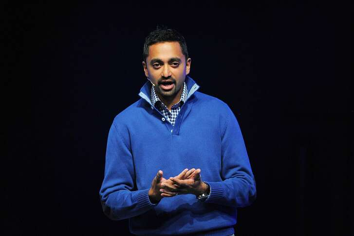 Chamath Palihapitiya, vice-president of growth for Facebook Inc. speaks at an HDT Corp. news conference at the Mobile World Congress (MWC) 2011 in Barcelona, Spain, on Tuesday, Feb. 15, 2011. HTC today also introduced five Android-based smartphones, including two that feature dedicated hardware connecting users to Facebook Inc.'s social-networking service. Photographer: Denis Doyle/Bloomberg