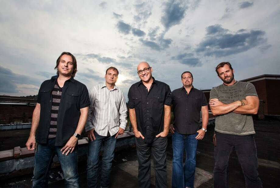 Sister Hazel's line-up of Ryan Newell, Mark Trojanowski, Ken Block, Andrew Copeland, and Jett Beres (pictured, left-right) has remained intact for twenty-five years. The band plays Norwalk's Wall Street Theater on Sept.27. Photo: Contributed / Brian Hall Photography