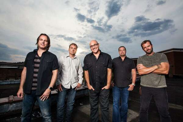 Sister Hazel's line-up of Ryan Newell, Mark Trojanowski, Ken Block, Andrew Copeland, and Jett Beres (pictured, left-right) has remained intact for twenty-five years. The band plays Norwalk's Wall Street Theater on Sept.27.
