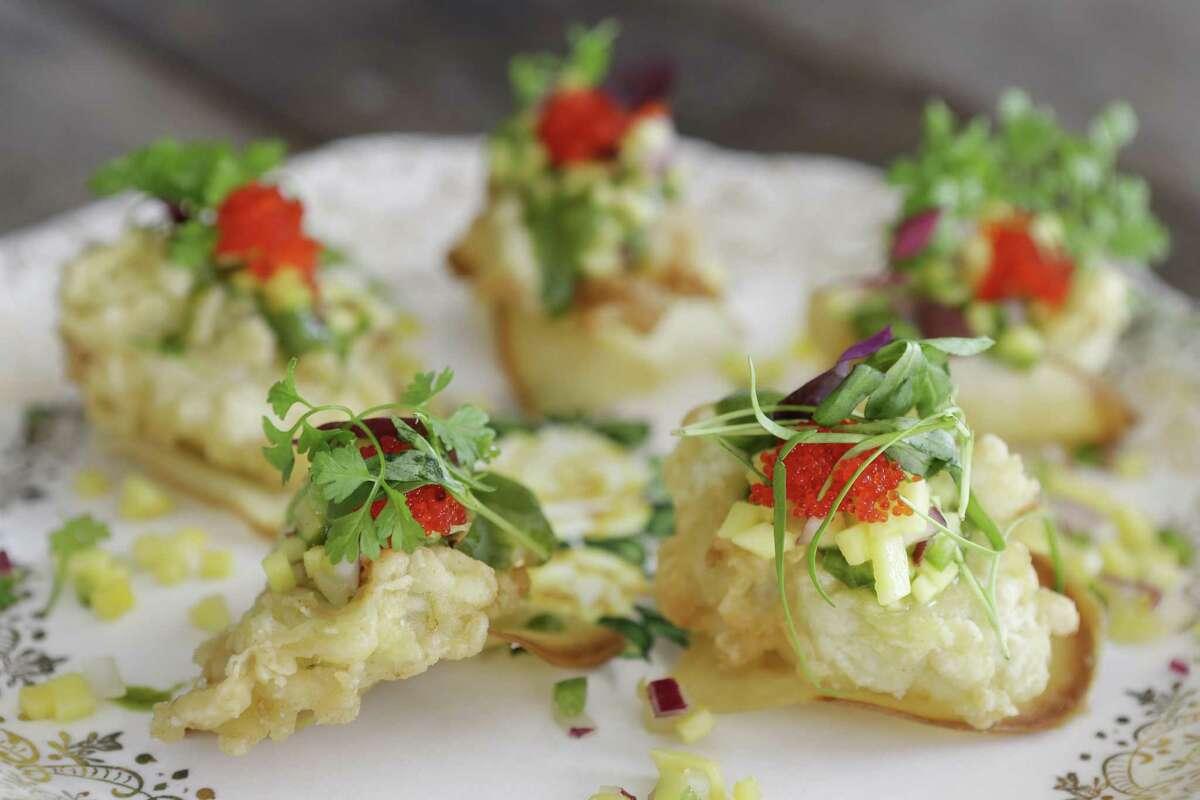 Oyster nachos at Brasserie 1895